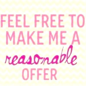 Happy to take offers